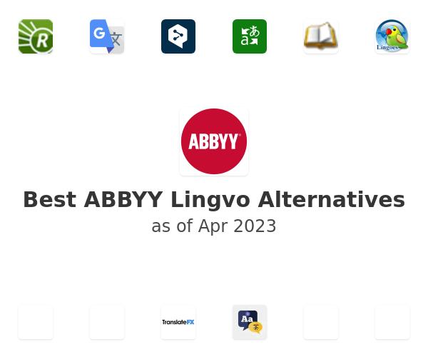 Best ABBYY Lingvo Alternatives