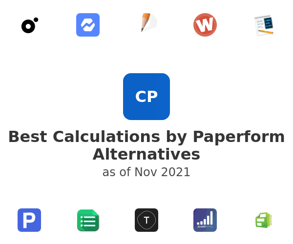 Best Calculations by Paperform Alternatives