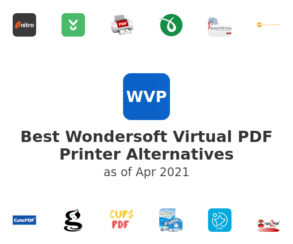Best Wondersoft Virtual PDF Printer Alternatives