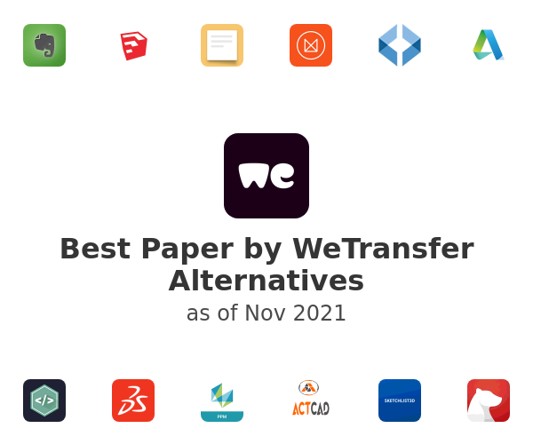 Best Paper by WeTransfer Alternatives