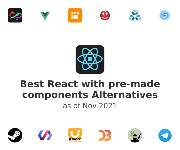 Best React with pre-made components Alternatives