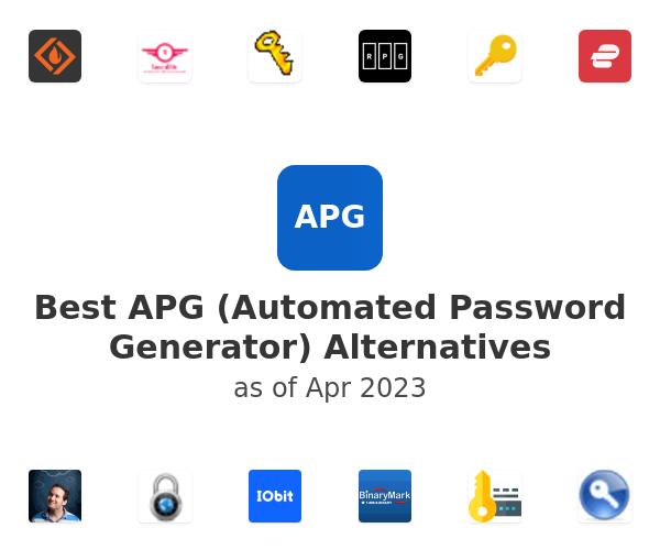 Best APG (Automated Password Generator) Alternatives