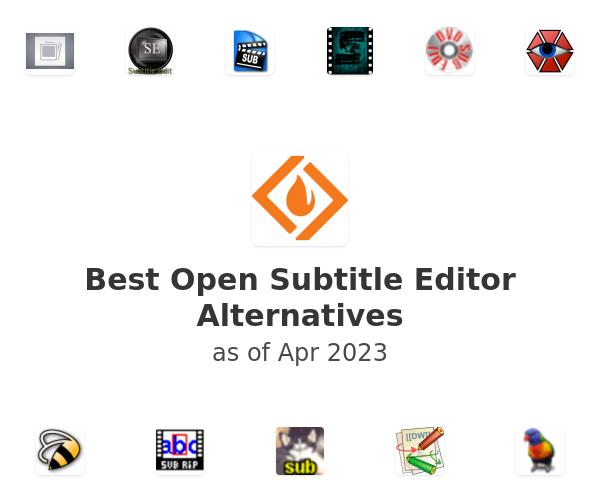 Best Open Subtitle Editor Alternatives