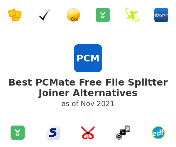 Best PCMate Free File Splitter Joiner Alternatives