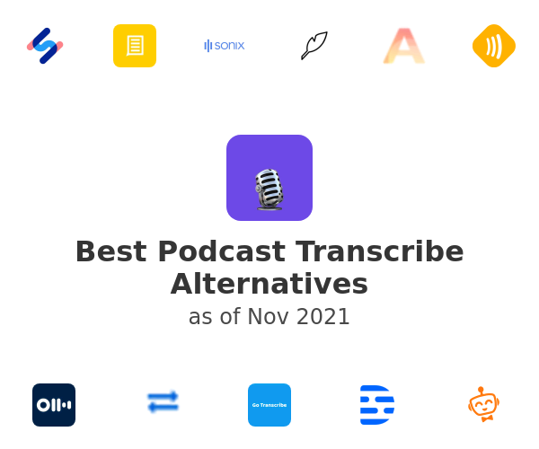 Best Podcast Transcribe Alternatives
