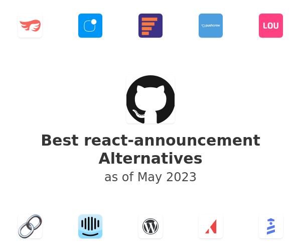 Best react-announcement Alternatives