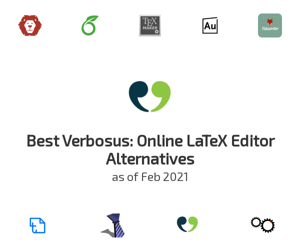 Best Verbosus: Online LaTeX Editor Alternatives