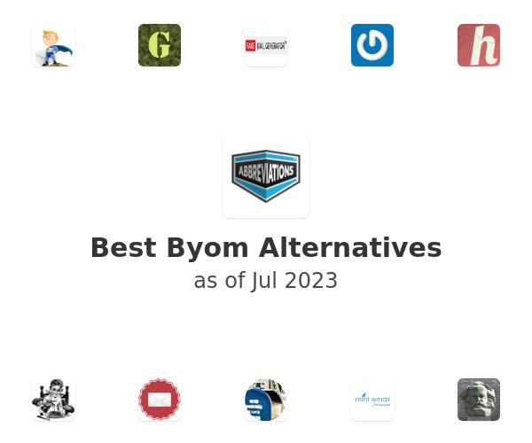 Best Byom Alternatives