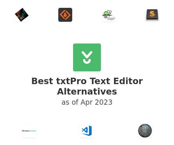 Best txtPro Text Editor Alternatives