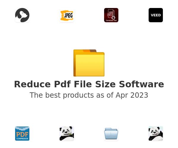 Reduce Pdf File Size Software