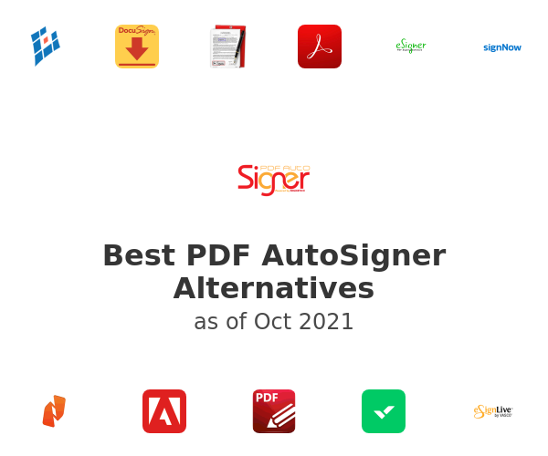 Best PDF AutoSigner Alternatives