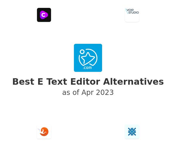 Best E Text Editor Alternatives