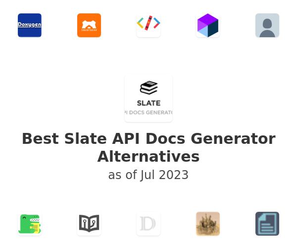 Best Slate API Docs Generator Alternatives