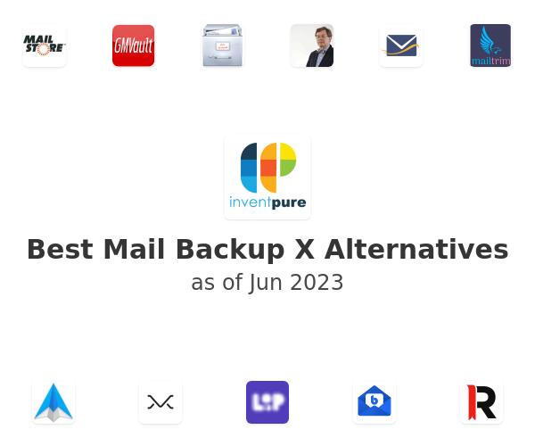Best Mail Backup X Alternatives