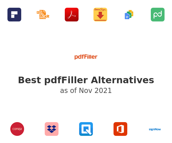 Best PDFfiller Alternatives