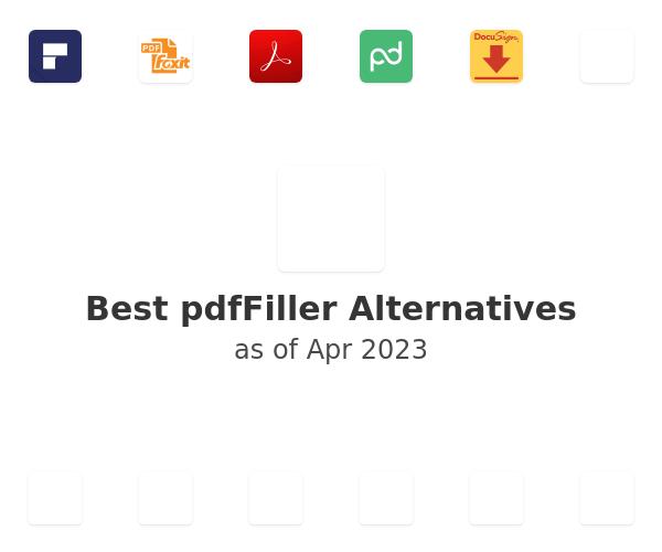 Best PDFfiller Alternatives