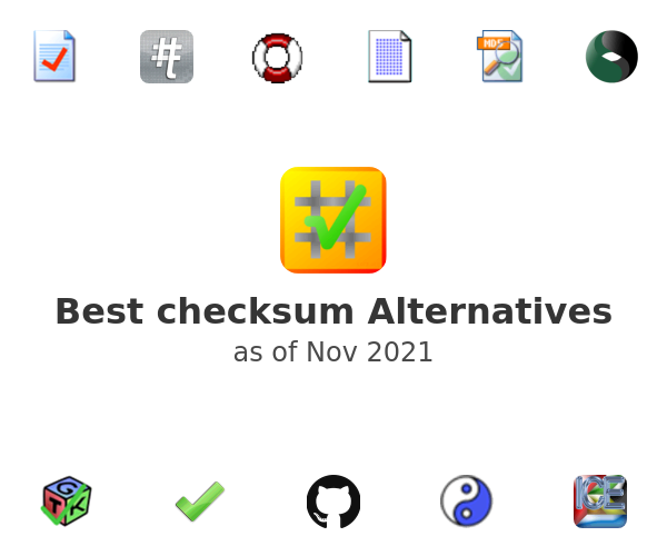 Best checksum Alternatives