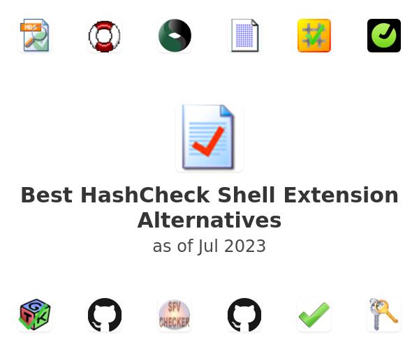Best HashCheck Shell Extension Alternatives