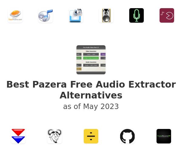 Best Pazera Free Audio Extractor Alternatives