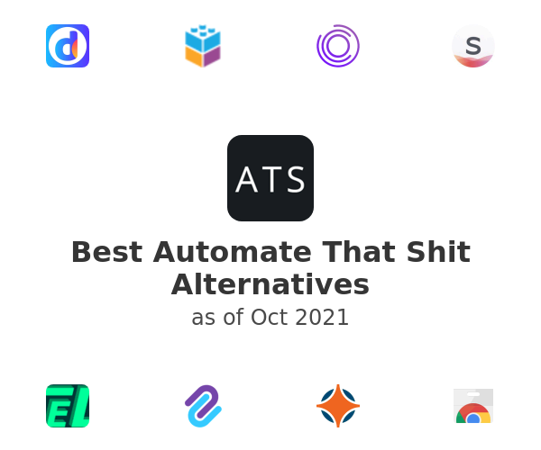 Best Automate That Shit Alternatives