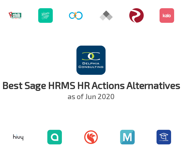 Best Sage HRMS HR Actions Alternatives