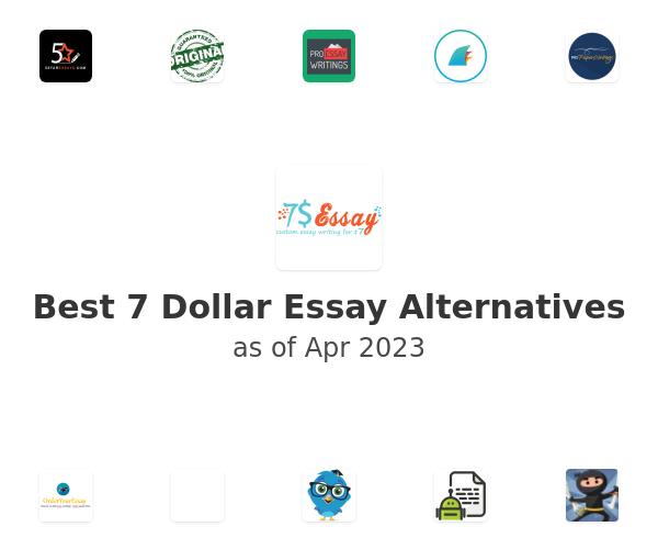 Best 7 Dollar Essay Alternatives
