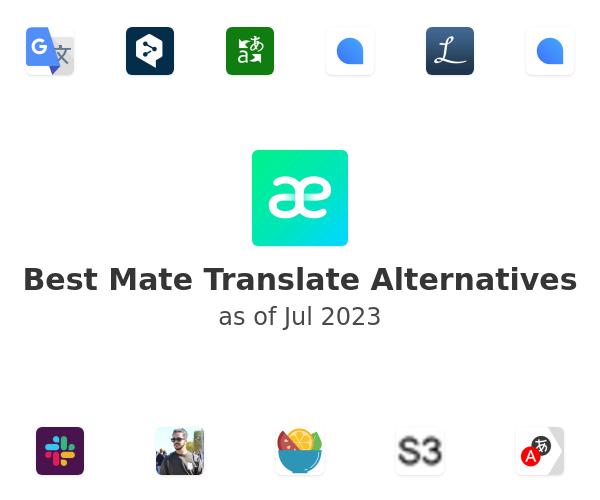 Best Mate Translate Alternatives