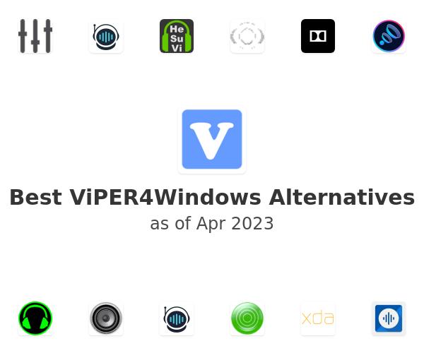 Best vipersaudio.com ViPER4Windows Alternatives