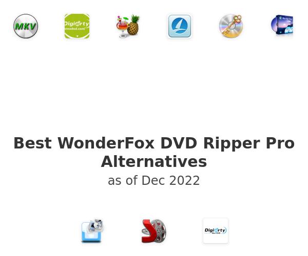 Best WonderFox DVD Ripper Pro Alternatives