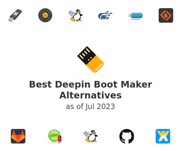 Best Deepin Boot Maker Alternatives