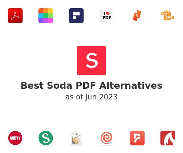 Best Soda PDF Anywhere Alternatives