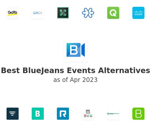 Best BlueJeans Events Alternatives