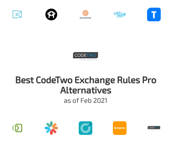 Best CodeTwo Exchange Rules Pro Alternatives
