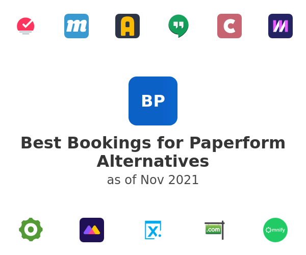 Best Bookings for Paperform Alternatives
