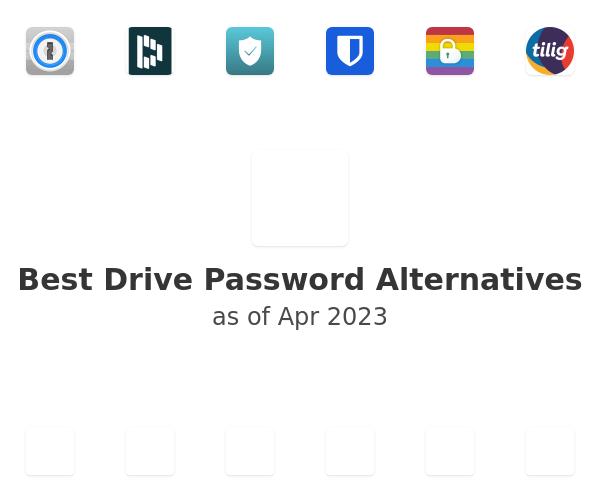 Best Drive Password Alternatives