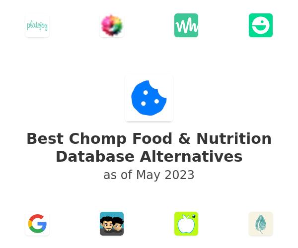 Best Chomp Food & Nutrition Database Alternatives