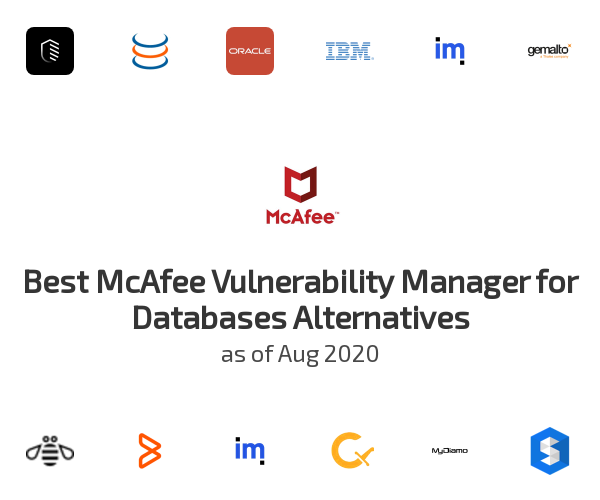 Best McAfee Vulnerability Manager for Databases Alternatives