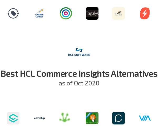 Best HCL Commerce Insights Alternatives