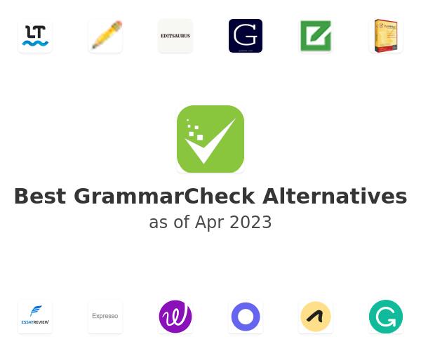 Best GrammarCheck Alternatives