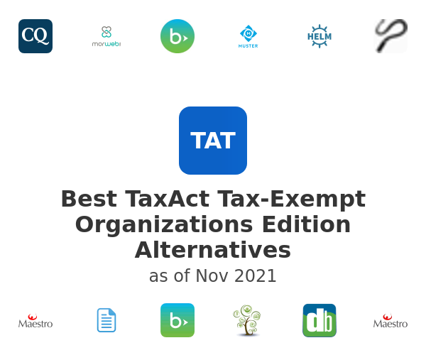 Best TaxAct Tax-Exempt Organizations Edition Alternatives