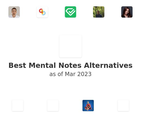 Best Mental Notes Alternatives