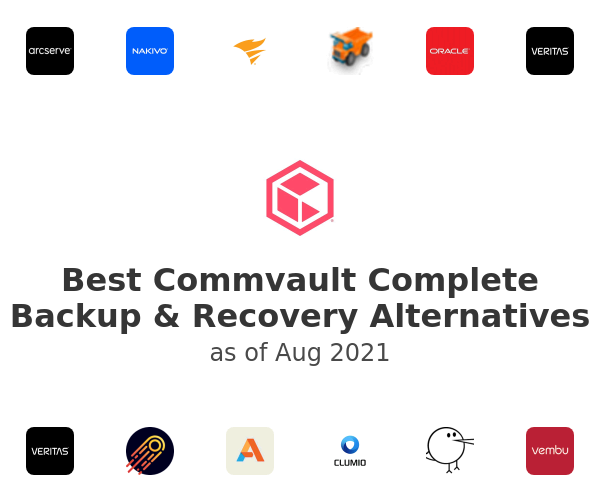 Best Commvault Complete Backup & Recovery Alternatives