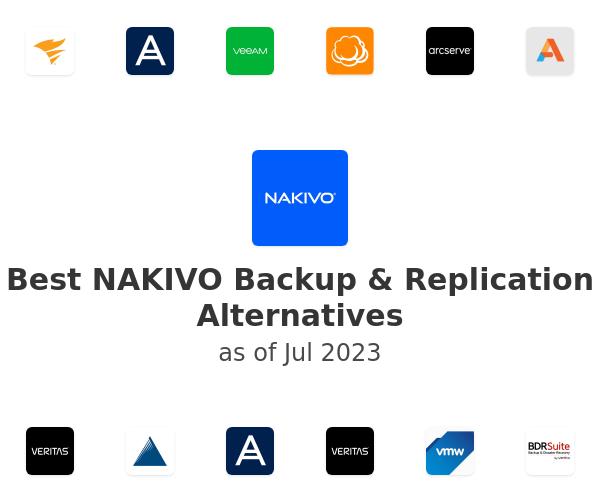 Best NAKIVO Backup & Replication Alternatives