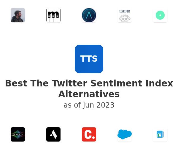 Best The Twitter Sentiment Index Alternatives