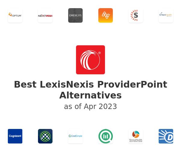 Best LexisNexis ProviderPoint Alternatives