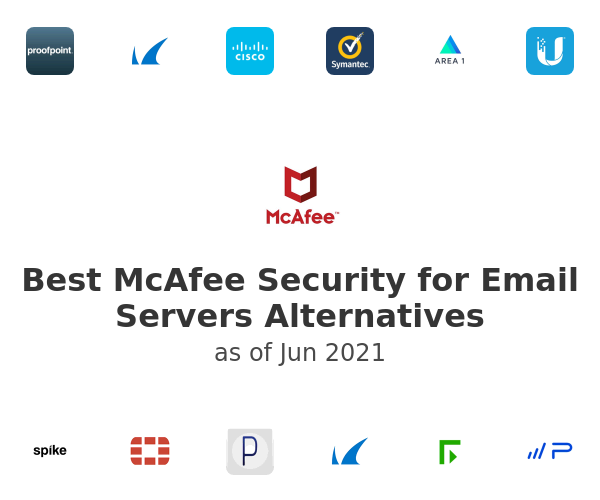 Best McAfee Security for Email Servers Alternatives
