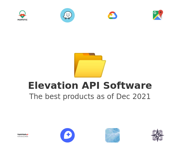 Elevation API Software