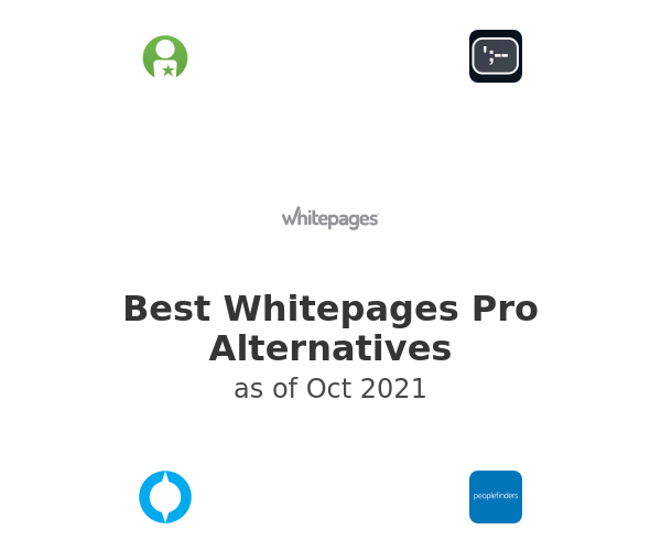 Best Whitepages Pro Alternatives