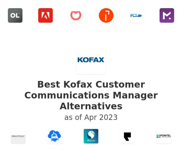 Best Kofax Customer Communications Manager Alternatives