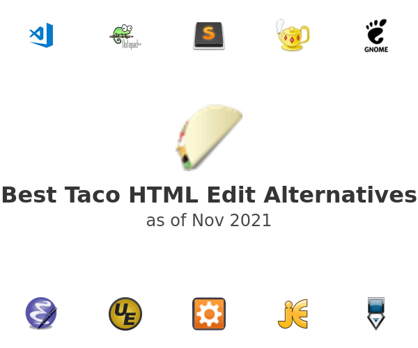 Best Taco HTML Edit Alternatives
